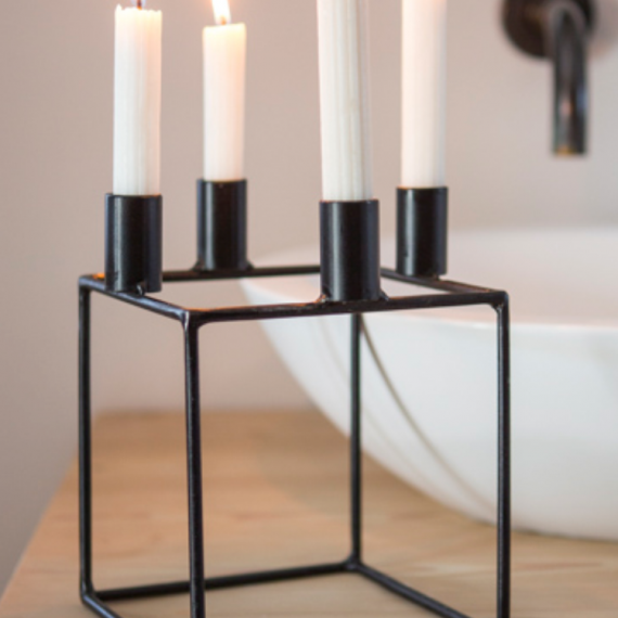 Cube Contemporary Candle Holder