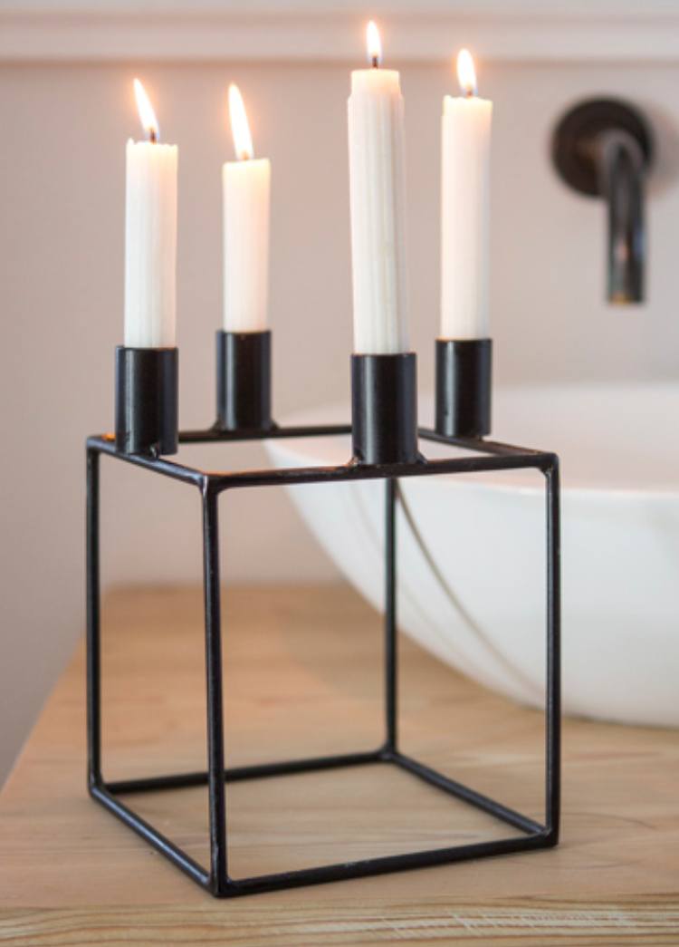 Cube Contemporary Candle Holder Elsje Design amp Decor Studio