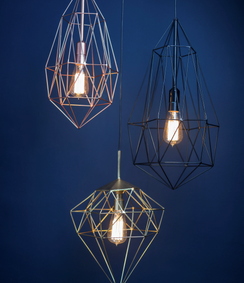 Jewel Geometric Light Pendants