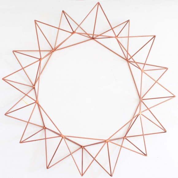 Geometric Wreath II in Copper