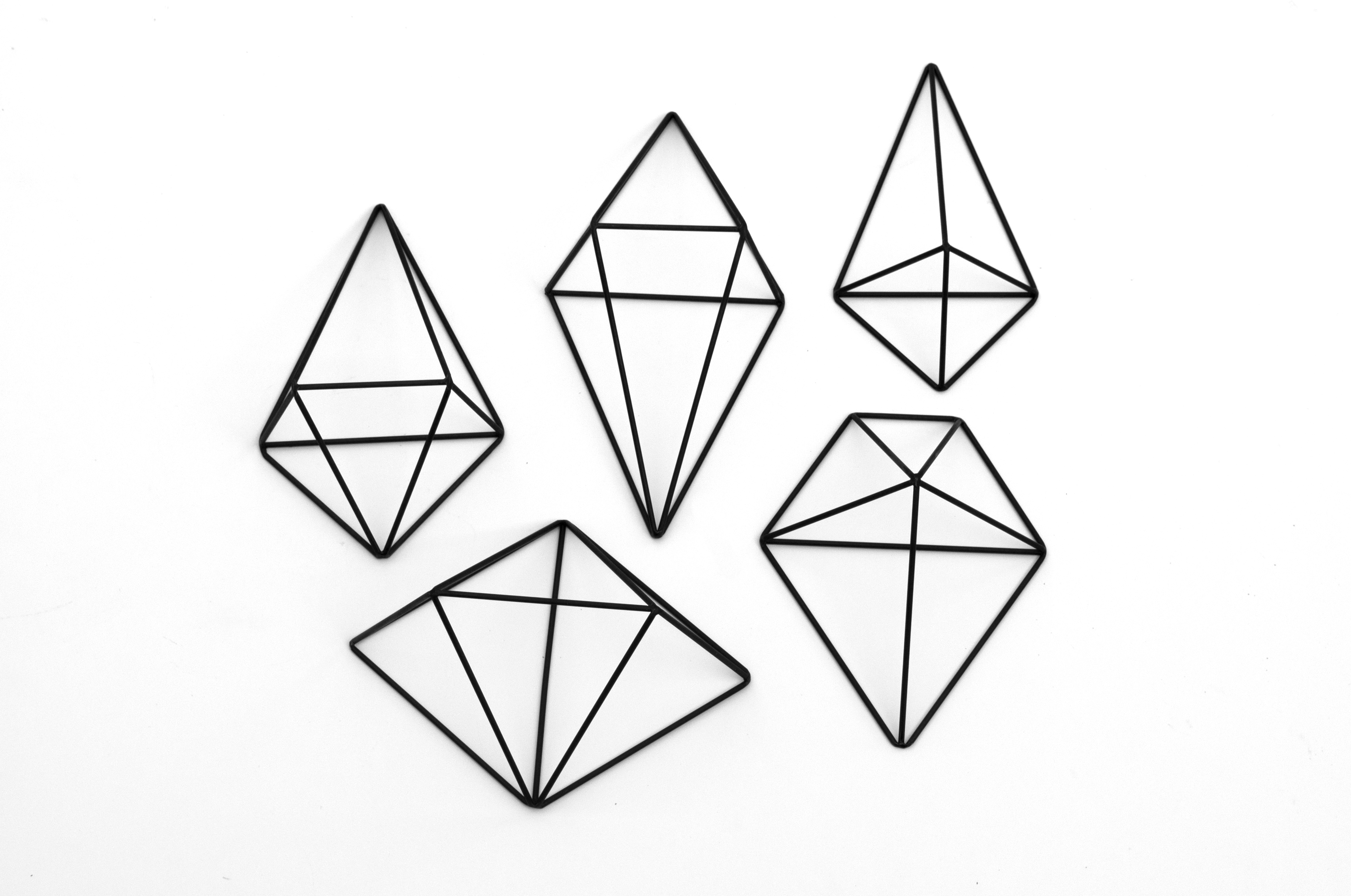 Wall mounted himmeli 5 collection – set of 5 | Elsje ...