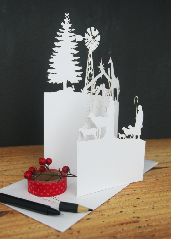 Laser Cut Greeting Cards Christmas In Africa