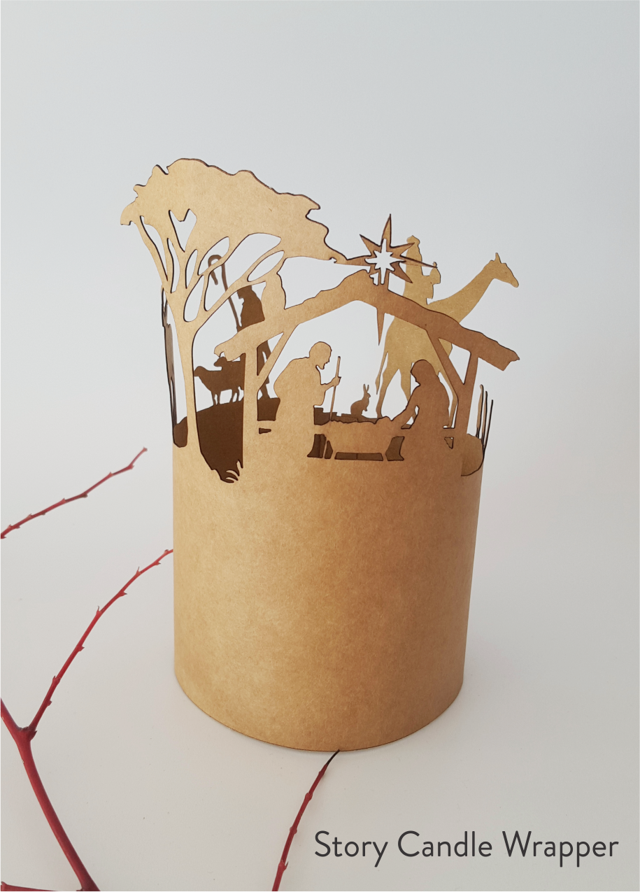 Story Candle Wrapper