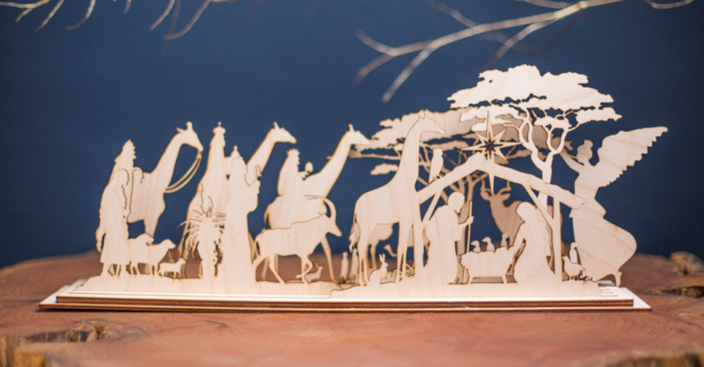 Christmas in Africa Wooden Nativity Set