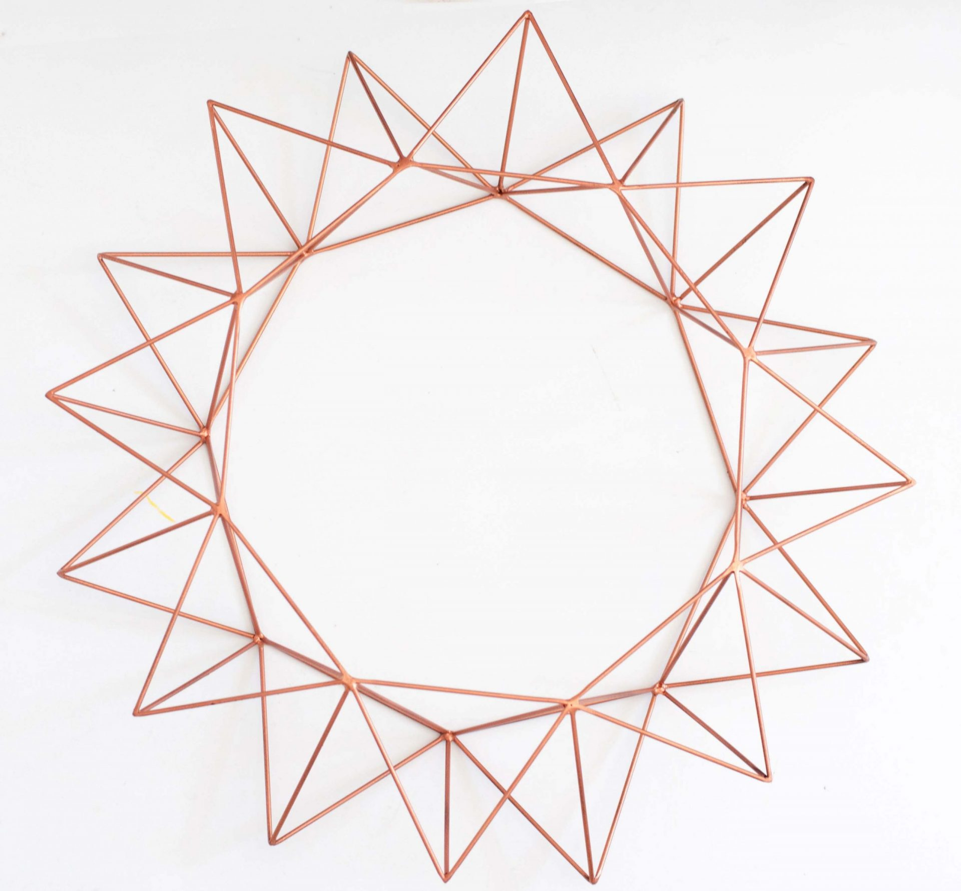 Geometric Wreath II in Copper