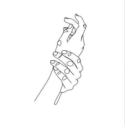 HANDS LINE ART - TWO