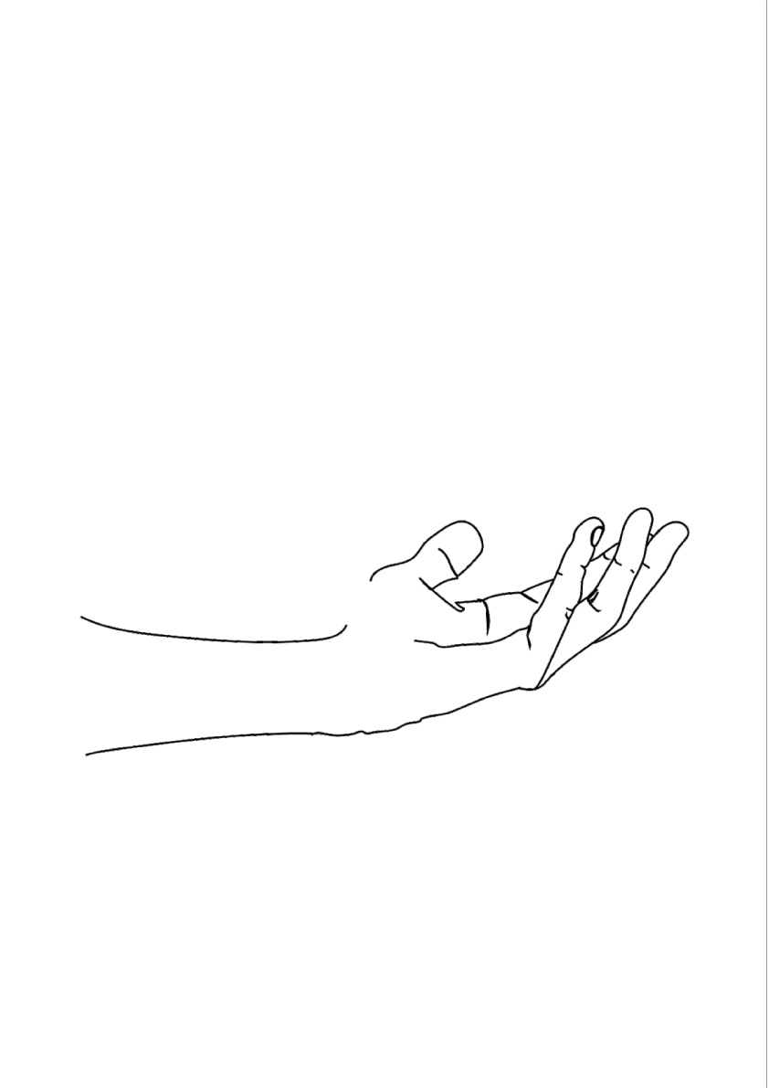 HANDS LINE ART - THREE