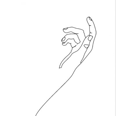 HANDS LINE ART - FOUR