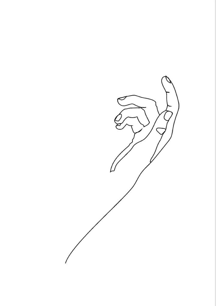 HANDS LINE ART - FOUR