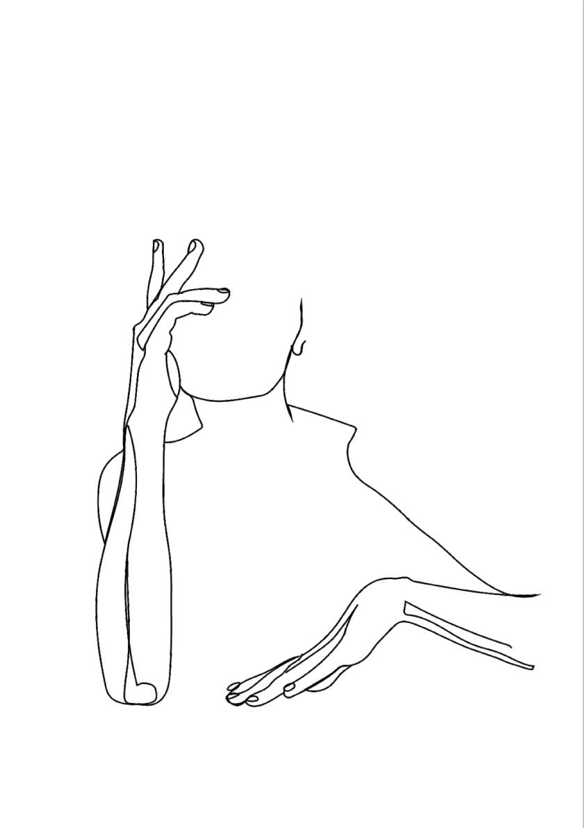 HANDS LINE ART - FIVE