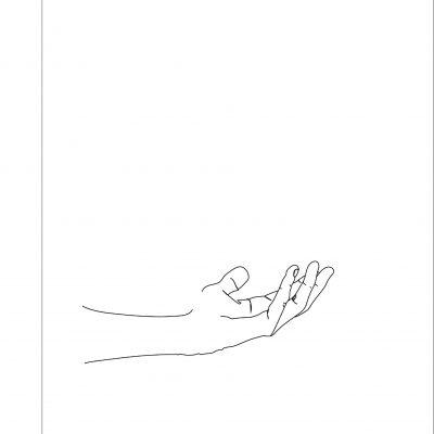 HANDS LINE ART - SEVEN