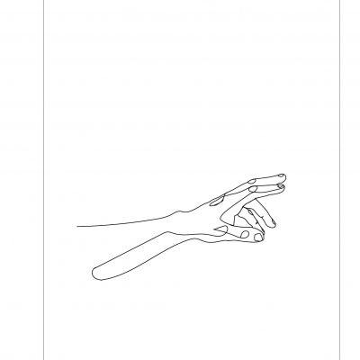 HANDS LINE ART - EIGHT